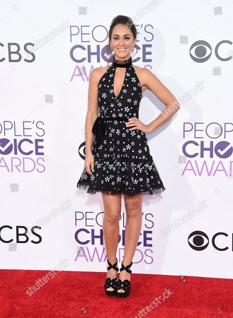 Susannah Fielding arrives at the People's Choice Awards at the Microsoft Theater, in Los Angeles