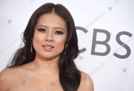 Christine Ko arrives at the People's Choice Awards at the Microsoft Theater, in Los Angeles