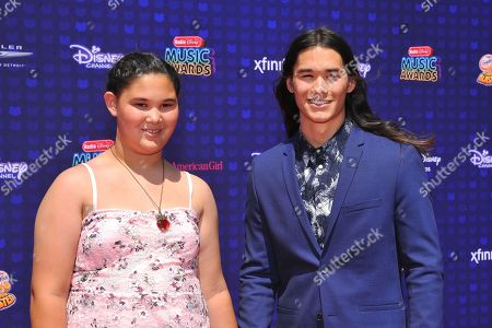 Sage Stewart and brother Booboo Stewart are seen at the 2017 Radio Disney Music Awards at the Microsoft Theatre on in Los Angeles, Calif