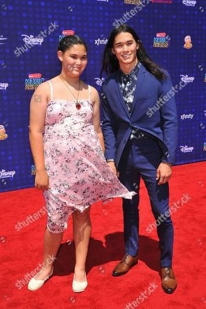 Stock Image of Sage Stewart and brother Booboo Stewart are seen at the 2017 Radio Disney Music Awards at the Microsoft Theatre on in Los Angeles, Calif