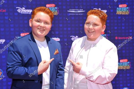 Stock Picture of Matthew Royer and Benjamin Royer are seen at the 2017 Radio Disney Music Awards at the Microsoft Theatre on in Los Angeles, Calif
