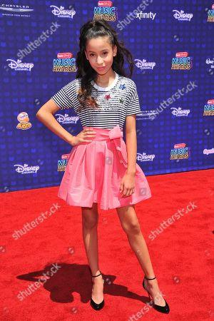 Izabella Alvarez is seen at the 2017 Radio Disney Music Awards at the Microsoft Theatre on in Los Angeles, Calif