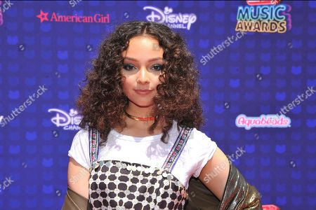 Kayla Maisonet is seen at the 2017 Radio Disney Music Awards at the Microsoft Theatre on in Los Angeles, Calif