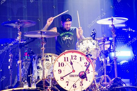 Mike Fuentes of Pierce The Veil performs at Rock On The Range Music Festival, in Columbus, Ohio
