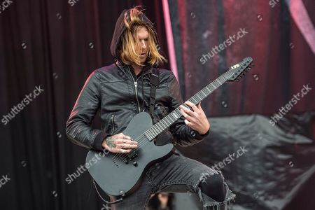 Alan Ashby of Of Mice & Men performs at Rock On The Range Music Festival, in Columbus, Ohio