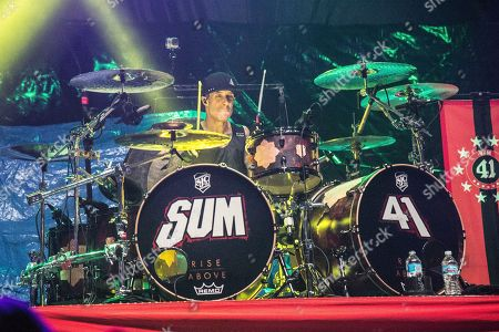 Frank Zummo of Sum 41 performs at Rock On The Range Music Festival, in Columbus, Ohio