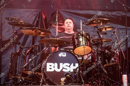 Robin Goodridge of Bush performs at Rock On The Range Music Festival, in Columbus, Ohio