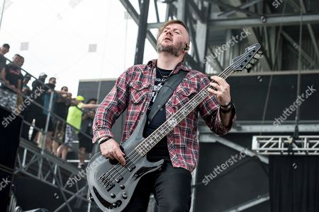 Dale Stewart of Seether performs at Rock On The Range Music Festival, in Columbus, Ohio