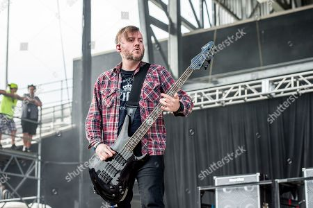Stock Picture of Dale Stewart of Seether performs at Rock On The Range Music Festival, in Columbus, Ohio