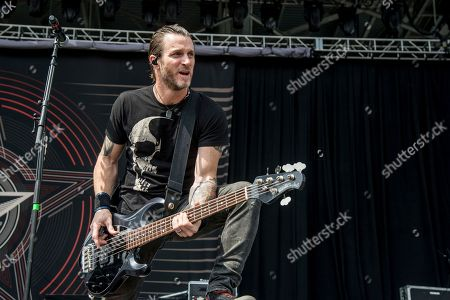 Brian Marshall of Alter Bridge performs at Rock On The Range Music Festival, in Columbus, Ohio