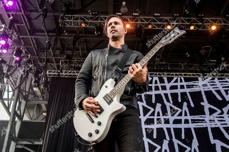 Jerry Horton of Papa Roach performs at Rock On The Range Music Festival, in Columbus, Ohio