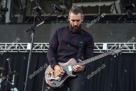 Clint Lowery of Sevendust performs with Seether at Rock On The Range Music Festival, in Columbus, Ohio