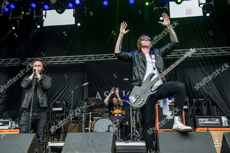Austin Dickinson, left, and Stefan Whiting of As Lions perform at Rock On The Range Music Festival, in Columbus, Ohio