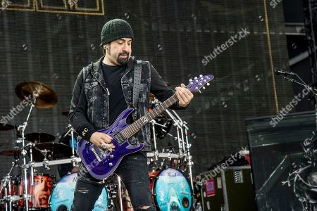 Rob Caggiano of Volbeat performs at Rock On The Range Music Festival, in Columbus, Ohio