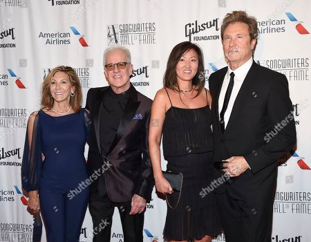 Inductee James Pankow of Chicago, second from left, Joy Kopko, Julie Nini and Inductee Robert Lamm of Chicago attend the 48th Annual Songwriters Hall of Fame Induction and Awards Gala at the New York Marriott Marquis Hotel, in New York