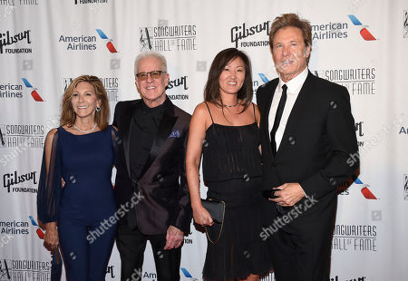Inductee James Pankow of Chicago, second from left, Joy Kopko, and Inductee Robert Lamm of Chicago attend the the 48th Annual Songwriters Hall of Fame Induction and Awards Gala at the New York Marriott Marquis Hotel, in New York