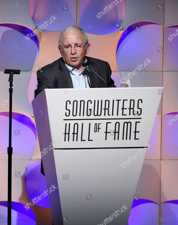 Irving Azoff presents at the 48th Annual Songwriters Hall of Fame Induction and Awards Gala at the New York Marriott Marquis Hotel, in New York