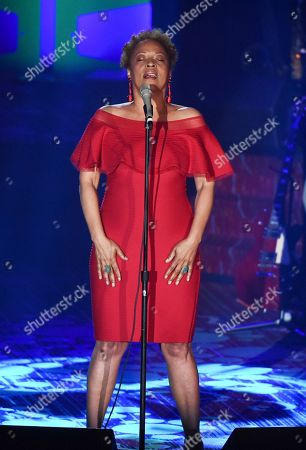 Stock Photo of Singer Cassandra Wilson performs at the 48th Annual Songwriters Hall of Fame Induction and Awards Gala at the New York Marriott Marquis Hotel, in New York