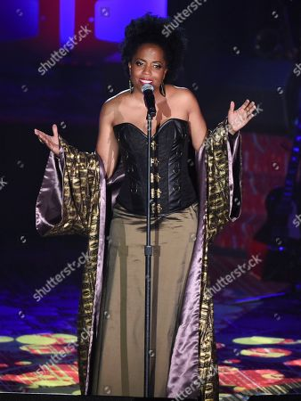 Rhonda Ross Kendrick performs at the 48th Annual Songwriters Hall of Fame Induction and Awards Gala at the New York Marriott Marquis Hotel, in New York