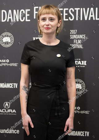 """Composer Holly Laessig poses at the premiere of the film """"Band Aid"""" at the Eccles Theatre during the 2017 Sundance Film Festival, in Park City, Utah"""