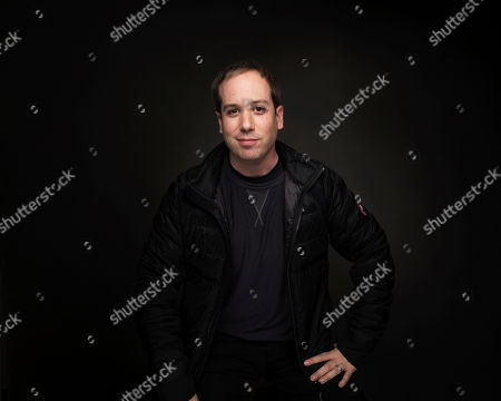 """Director Kief Davidson poses for a portrait to promote the film, """"Bending the Arc"""", at the Music Lodge during the Sundance Film Festival, in Park City, Utah"""