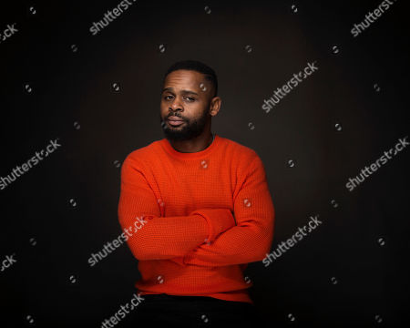 """Director Gerard McMurray poses for a portrait to promote the film, """"Burning Sands"""", at the Music Lodge during the Sundance Film Festival, in Park City, Utah"""
