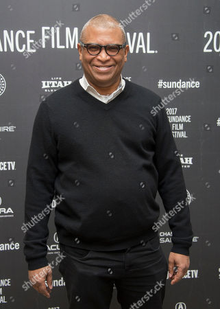 "Producer Reggie Hudlin poses at the premiere of the film ""Burning Sands"" at the Eccles Theatre during the 2017 Sundance Film Festival, in Park City, Utah"