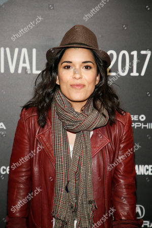 """Stock Image of Cast member Alicia Sixtos poses at the premiere of """"Gente-fied"""" during the short form episodic showcase at the 2017 Sundance Film Festival, in Park City, Utah"""
