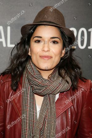 """Cast member Alicia Sixtos poses at the premiere of """"Gente-fied"""" during the short form episodic showcase at the 2017 Sundance Film Festival, in Park City, Utah"""