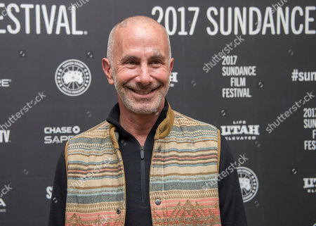"""Producer Russell Levine poses at the premiere of the film """"Landline"""" at the Eccles Theater during the 2017 Sundance Film Festival, in Park City, Utah"""