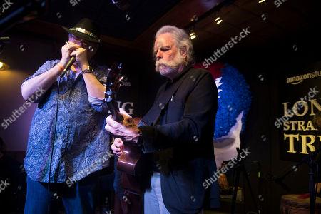 "John Popper, left, and Bob Weir perform at the party for the film ""Long Strange Trip"" during the 2017 Sundance Film Festival, in Park City, Utah"