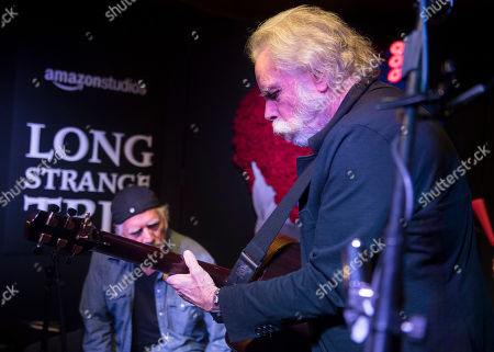 """Bill Kreutzmann, left, and Bob Weir perform at the party for the film """"Long Strange Trip"""" during the 2017 Sundance Film Festival, in Park City, Utah"""