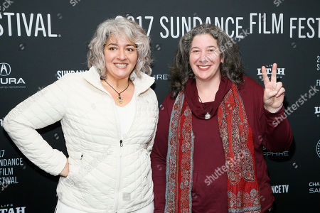 "Trixie Garcia, left, and Annabelle Garcia, right, daughters of the late Grateful Dead founder Jerry Garcia, poses at the premiere of ""Long Strange Trip,"" a documentary about the Grateful Dead rock group, during the 2017 Sundance Film Festival, in Park City, Utah"