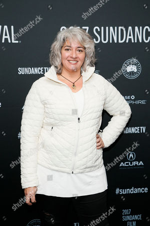 "Trixie Garcia, daughter of the late Grateful Dead founder Jerry Garcia, poses at the premiere of ""Long Strange Trip,"" a documentary about the Grateful Dead rock group, during the 2017 Sundance Film Festival, in Park City, Utah"