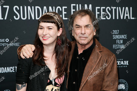 """Stock Photo of Mickey Hart, right, poses with his daughter Reya Hart, left, at the premiere of """"Long Strange Trip,"""" a documentary about the Grateful Dead rock group, during the 2017 Sundance Film Festival, in Park City, Utah"""