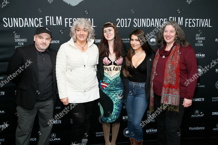 "From left to right, children of Grateful Dead members, Justin Kreutzmann, Trixie Garcia, Reya Hart, Chloe Weir and Annabelle Garcia pose at the premiere of ""Long Strange Trip,"" a documentary about the Grateful Dead rock group, during the 2017 Sundance Film Festival, in Park City, Utah"
