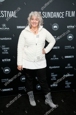 """Trixie Garcia, daughter of the late Grateful Dead founder Jerry Garcia, poses at the premiere of """"Long Strange Trip,"""" a documentary about the Grateful Dead rock group, during the 2017 Sundance Film Festival, in Park City, Utah"""
