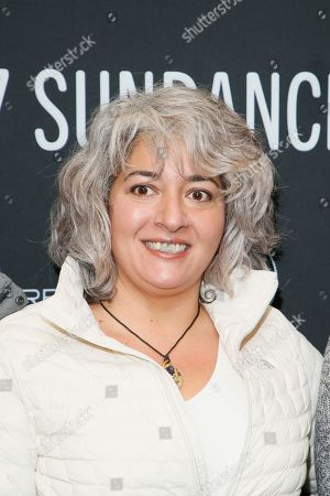 """Stock Image of Trixie Garcia, daughter of the late Grateful Dead founder Jerry Garcia, poses at the premiere of """"Long Strange Trip,"""" a documentary about the Grateful Dead rock group, during the 2017 Sundance Film Festival, in Park City, Utah"""