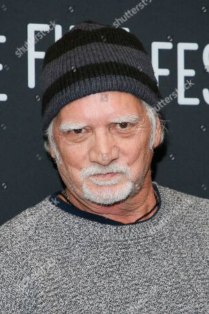 """Bill Kreutzmann poses at the premiere of """"Long Strange Trip,"""" a documentary about the Grateful Dead rock group, during the 2017 Sundance Film Festival, in Park City, Utah"""