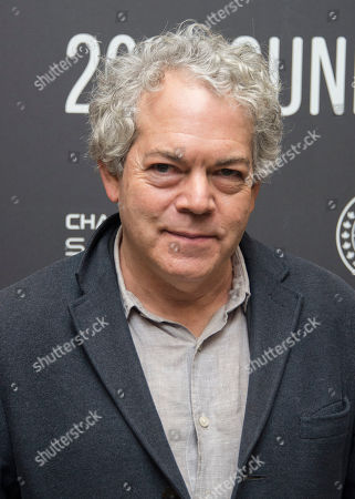 """Director Michael Almereyda poses at the premiere of the film """"Marjorie Prime"""" at the Eccles Theatre during the 2017 Sundance Film Festival, in Park City, Utah"""
