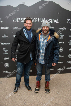 """Producers Tim Zajaros, left, and Christopher Lemole at the premiere of the film """"Mudbound"""" at the Eccles Theatre during the 2017 Sundance Film Festival, in Park City, Utah"""