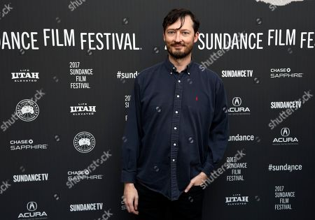 "Dustin Guy Defa, writer/director of ""Person to Person,"" poses at the premiere of the film at the Library Center Theatre during the 2017 Sundance Film Festival, in Park City, Utah"