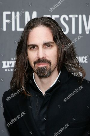 """Composer Bear McCreary poses at the premiere of """"Rebel In The Rye"""" during the 2017 Sundance Film Festival, in Park City, Utah"""