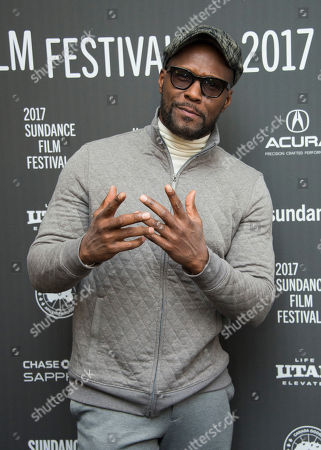 "Actor Curtiss Cook poses at the premiere of the film ""Roxanne Roxanne"" at the Library Center Theater during the 2017 Sundance Film Festival, in Park City, Utah"