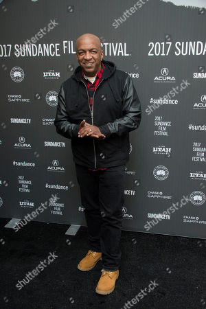"Co-producer Ralph McDaniels poses at the premiere of the film ""Roxanne Roxanne"" at the Library Center Theater during the 2017 Sundance Film Festival, in Park City, Utah"