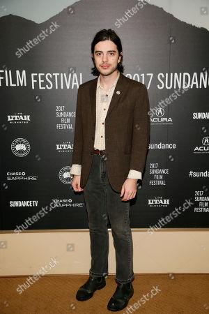 "Actor Morgan Krantz poses at the premiere of ""Strangers"" during the short form episodic showcase at the 2017 Sundance Film Festival, in Park City, Utah"