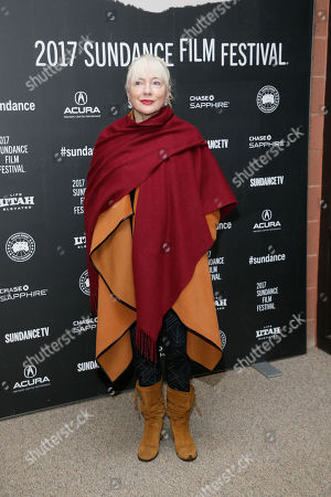 """Producer Anne-Marie Mackay poses at the premiere of """"The Last Word"""" during the 2017 Sundance Film Festival, in Park City, Utah"""