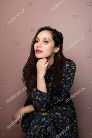 """Actress Hania Amar poses for a portrait to promote the film, """"The Nile Hilton Incident,"""" at the Music Lodge during the Sundance Film Festival, in Park City, Utah"""
