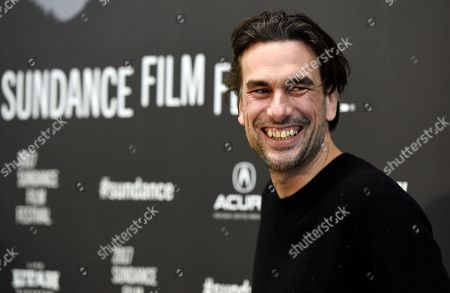 "Stock Photo of Alexandre Moors, director of ""The Yellow Birds,"" arrives at the premiere of the film at Eccles Theatre during the 2017 Sundance Film Festival, in Park City, Utah"