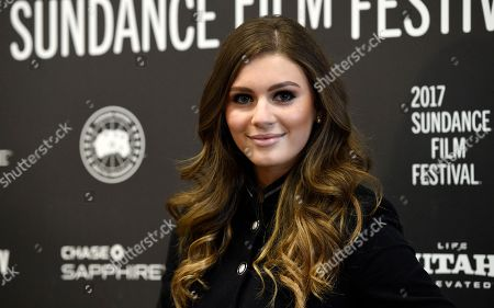 "Carrie Wampler, a cast member in ""The Yellow Birds,"" poses at the premiere of the film at Eccles Theatre during the 2017 Sundance Film Festival, in Park City, Utah"